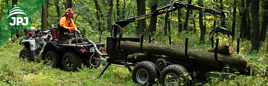 šestikolka a vyvážačka dreva