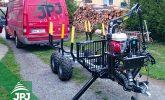 držiak hydraulické jednotky na vyvážečce