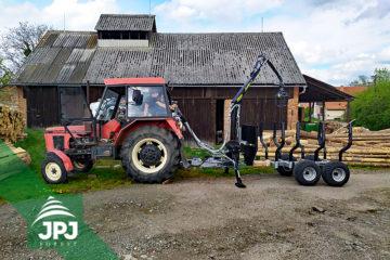 Traktorová vyvážačka 3000_500 a Zetor